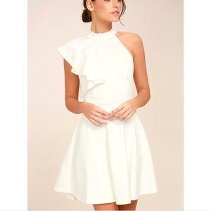 Lulus shoulder ruffle dress